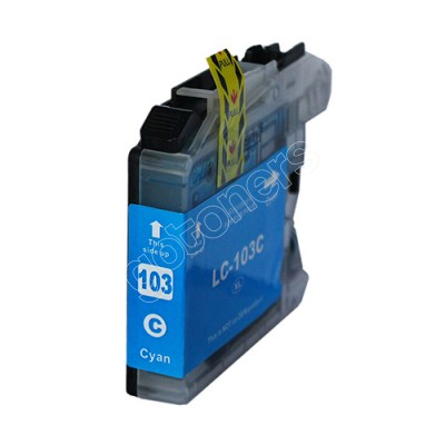 Gotoners™ Brother New Compatible LC103C XL Cyan Inkjet Cartridge, High Yield