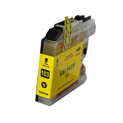 Gotoners™ Brother New Compatible LC103Y XL Yellow Inkjet Cartridge, High Yield