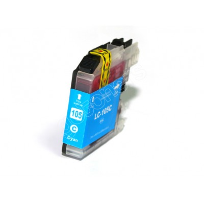 Gotoners™ Brother New Compatible LC105C XXL Cyan Inkjet Cartridge, Extra Yield