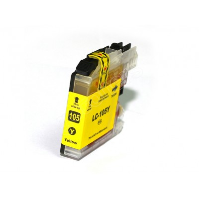 Gotoners™ Brother New Compatible LC105Y XXL Yellow Inkjet Cartridge, Extra Yield