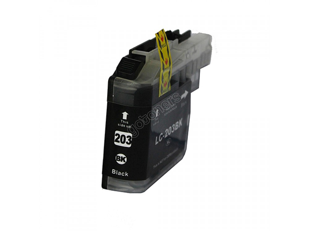 Gotoners™ Brother New Compatible LC203BK Black Inkjet Cartridge, Standard Yield