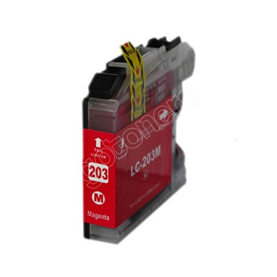 Gotoners™ Brother New Compatible LC203M Magenta Inkjet Cartridge, Standard Yield