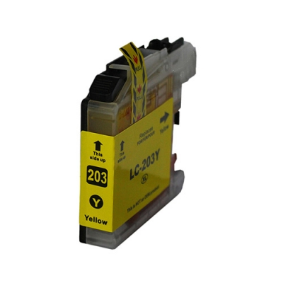 Gotoners™ Brother New Compatible LC203Y Yellow Inkjet Cartridge, Standard Yield