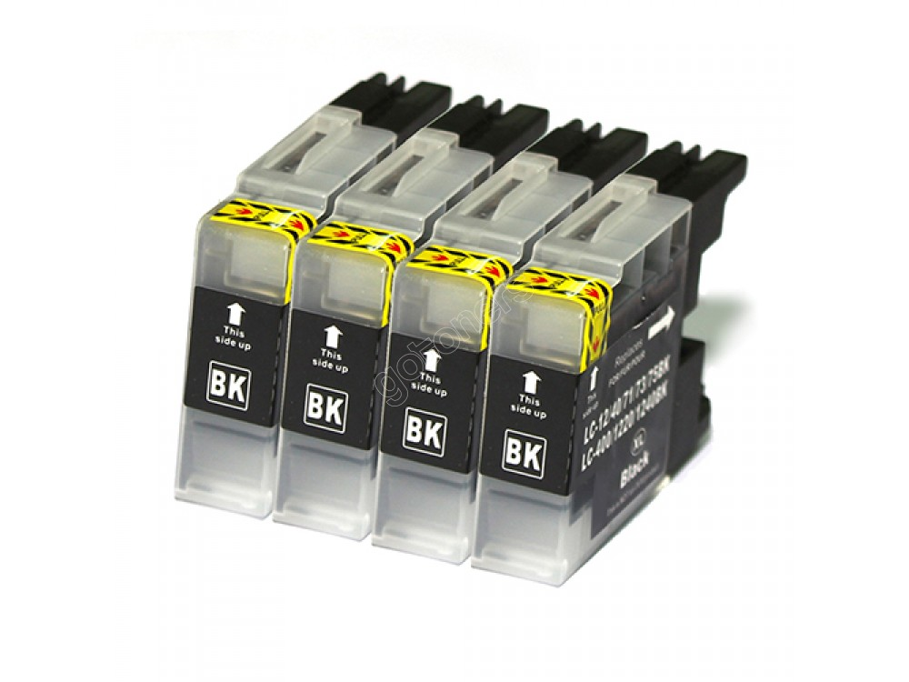 Gotoners™ Brother New Compatible LC71BK Black Inkjet Cartridge, Standard Yield, 4 Pack