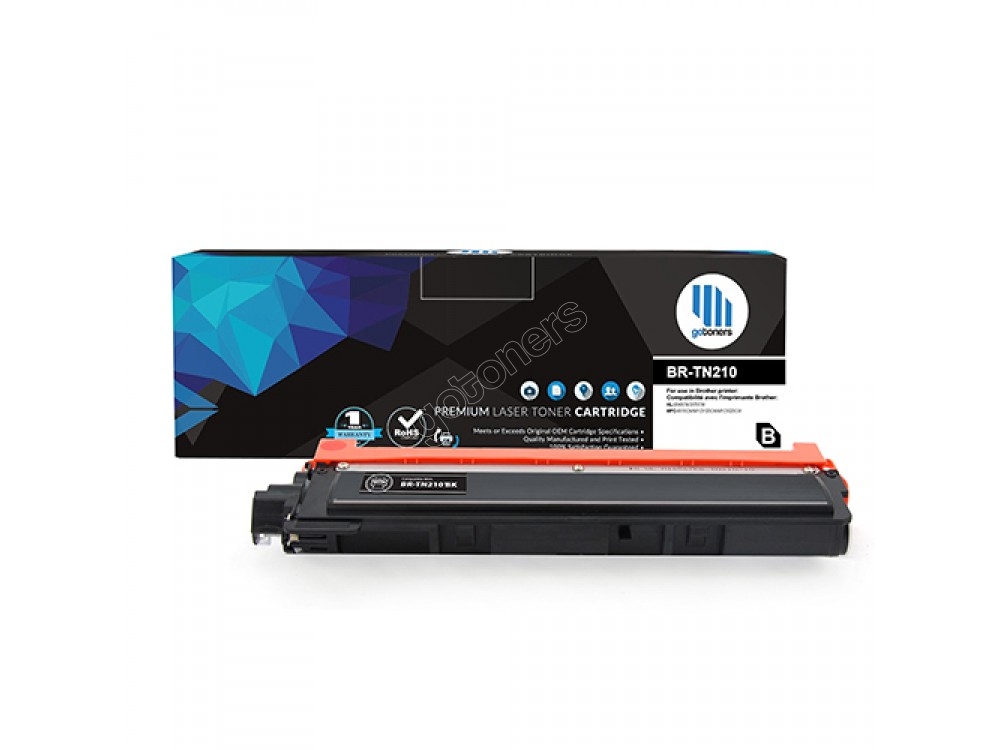 Gotoners™ Brother New Compatible TN-210BK Black Toner, Standard Yield