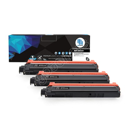 Gotoners™ Brother New Compatible TN-210BK Black Toner, Standard Yield, 3 Pack