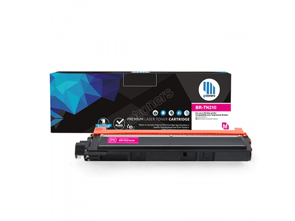 Gotoners™ Brother New Compatible TN-210 Magenta Toner, Standard Yield
