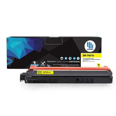 Gotoners™ Brother New Compatible TN-210 Yellow Toner, Standard Yield
