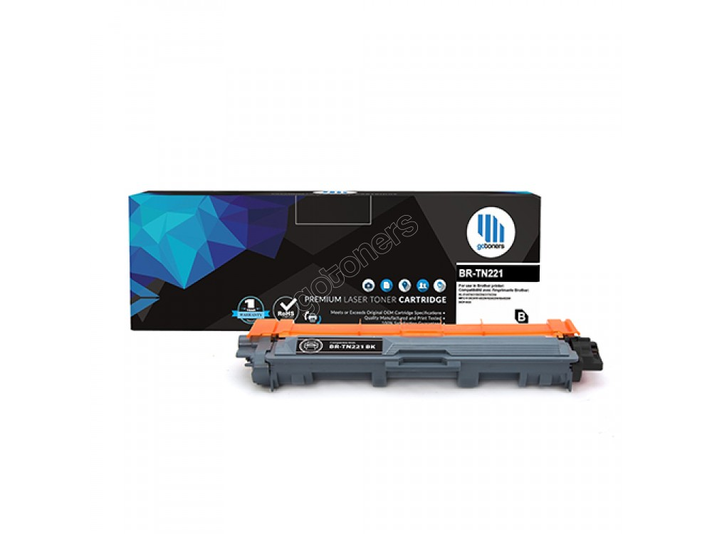 Gotoners™ Brother New Compatible TN-221BK Black Toner, High Yield