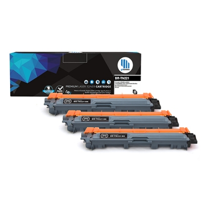 Gotoners™ Brother New Compatible TN-221BK Black Toner, High Yield, 3 Pack