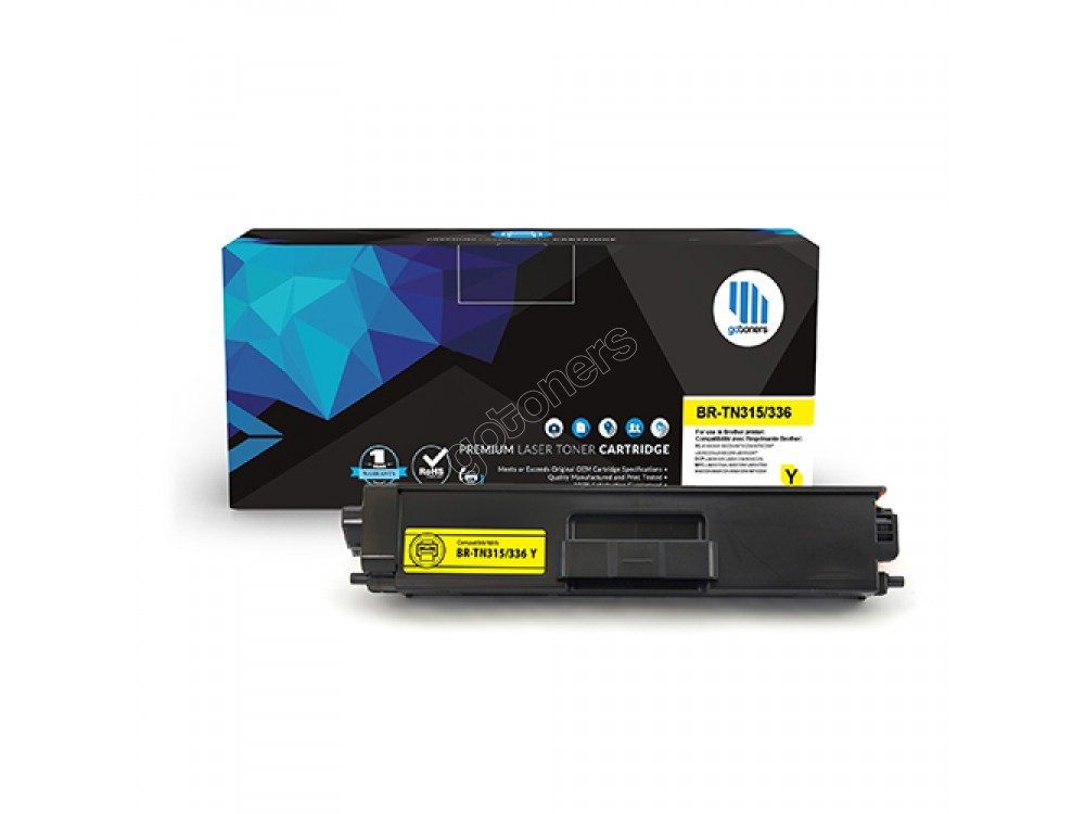 Gotoners™ Brother New Compatible TN-336 Yellow Toner, High Yield