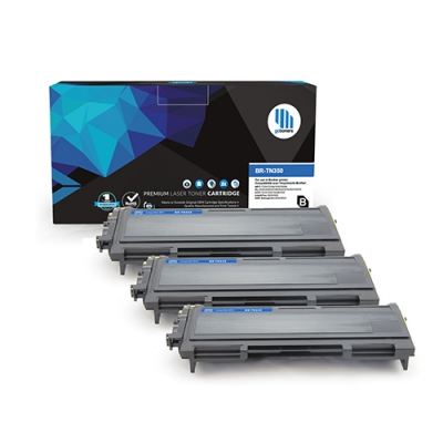 Gotoners™ Brother New Compatible TN-350BK Black Toner, Standard Yield, 3 Pack