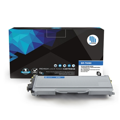 Gotoners™ Brother New Compatible TN-360BK Black Toner, High Yield