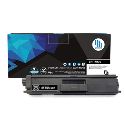 Gotoners™ Brother New Compatible TN-436BK Black Toner, Extra Yield Version of TN-433BK