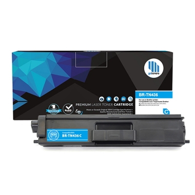 Gotoners™ Brother New Compatible TN-436 C Cyan Toner, Extra Yield