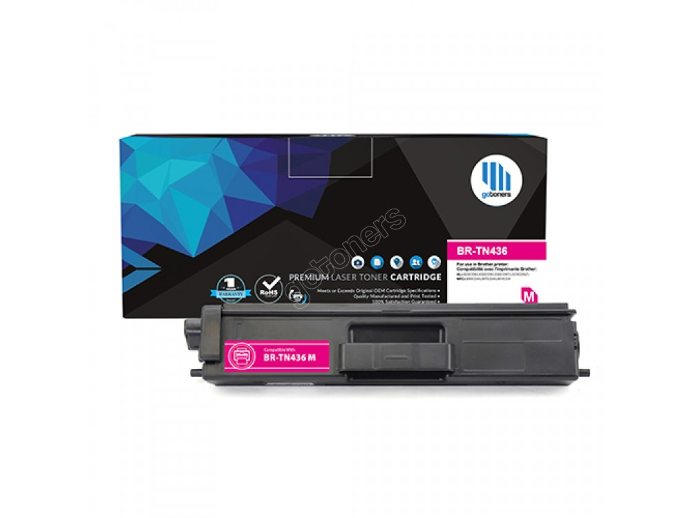 Gotoners™ Brother New Compatible TN-436 M Magenta Toner, Extra Yield