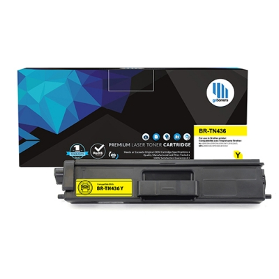 Gotoners™ Brother New Compatible TN-436 Y Yellow Toner, Extra Yield