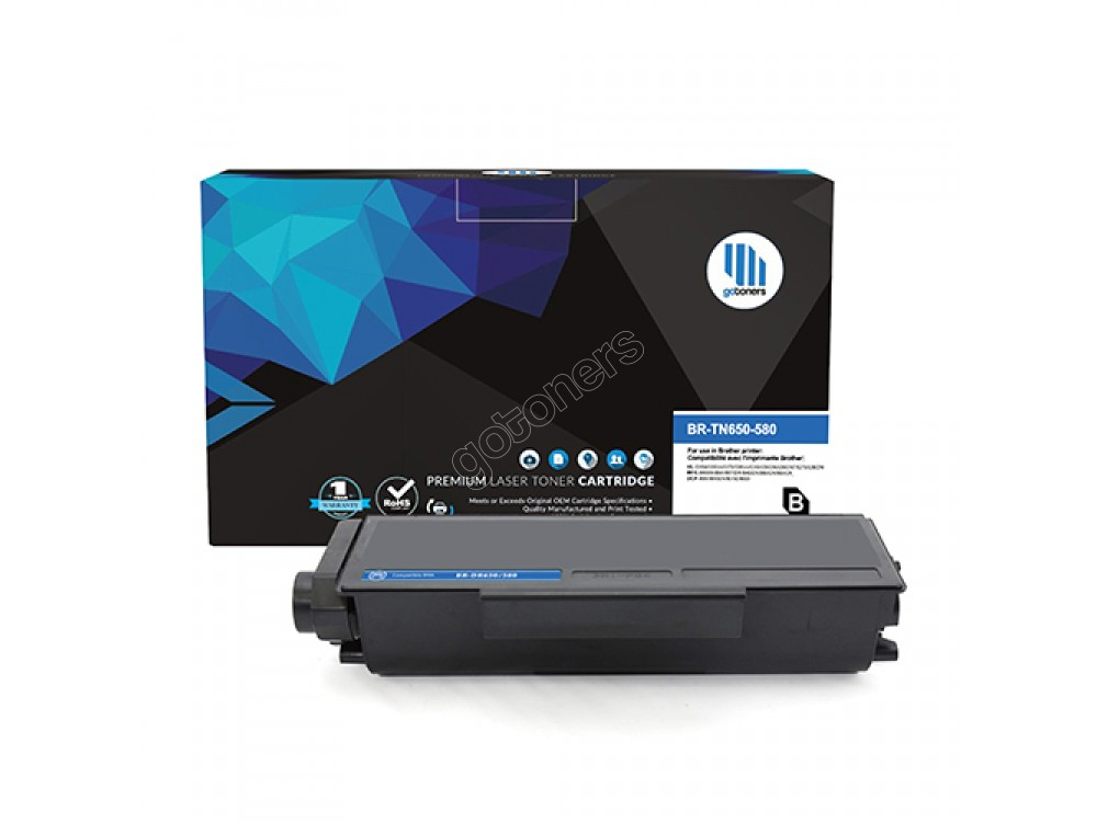 Gotoners™ Brother New Compatible TN-580BK Black Toner, High Yield