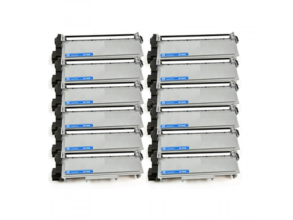Gotoners™ Brother New Compatible TN-660BK Black Toner, High Yield Version of TN-630BK, 12 pack