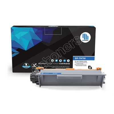Gotoners™ Brother New Compatible TN-750BK Black Toner, High Yield