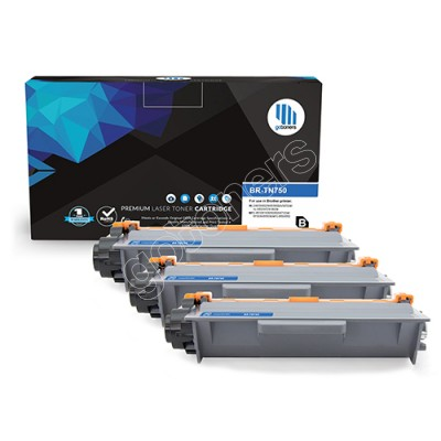 Gotoners™ Brother New Compatible TN-750BK Black Toner, High Yield, 3 Pack