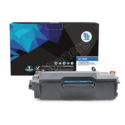 Gotoners™ Brother New Compatible TN-880BK Black Toner, Extra Yield Version of TN-820BK
