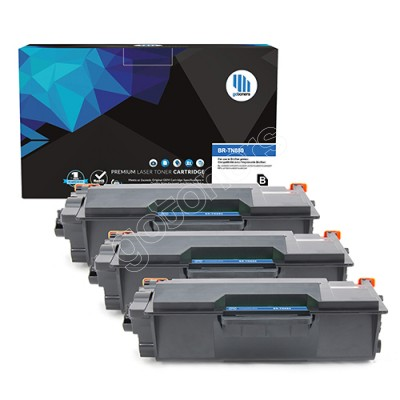 Gotoners™ Brother New Compatible TN-880BK Black Toner, Extra Yield Version of TN-820BK, 3 Pack
