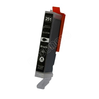 Gotoners™ Canon New Compatible CLI-251BK XL Black Inkjet Cartridge, High Yield