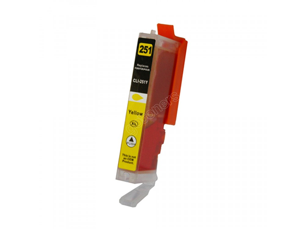 Gotoners™ Canon New Compatible CLI-251Y XL Yellow Inkjet Cartridge, High Yield