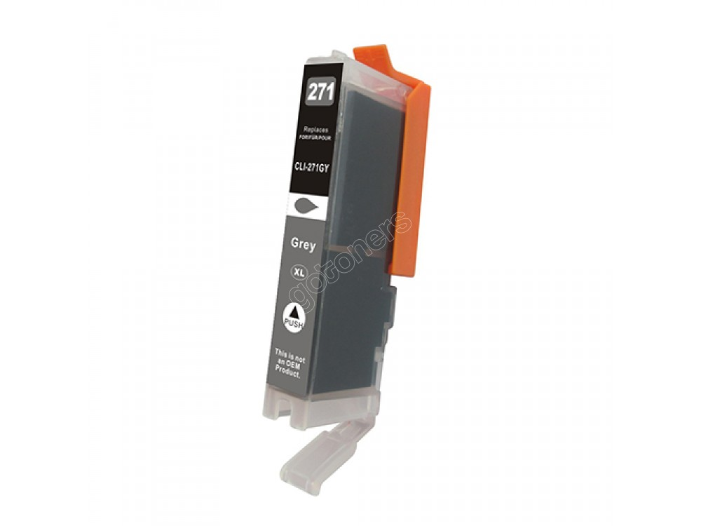 Gotoners™ Canon New Compatible CLI-271GY XL Gray Inkjet Cartridge, High Yield