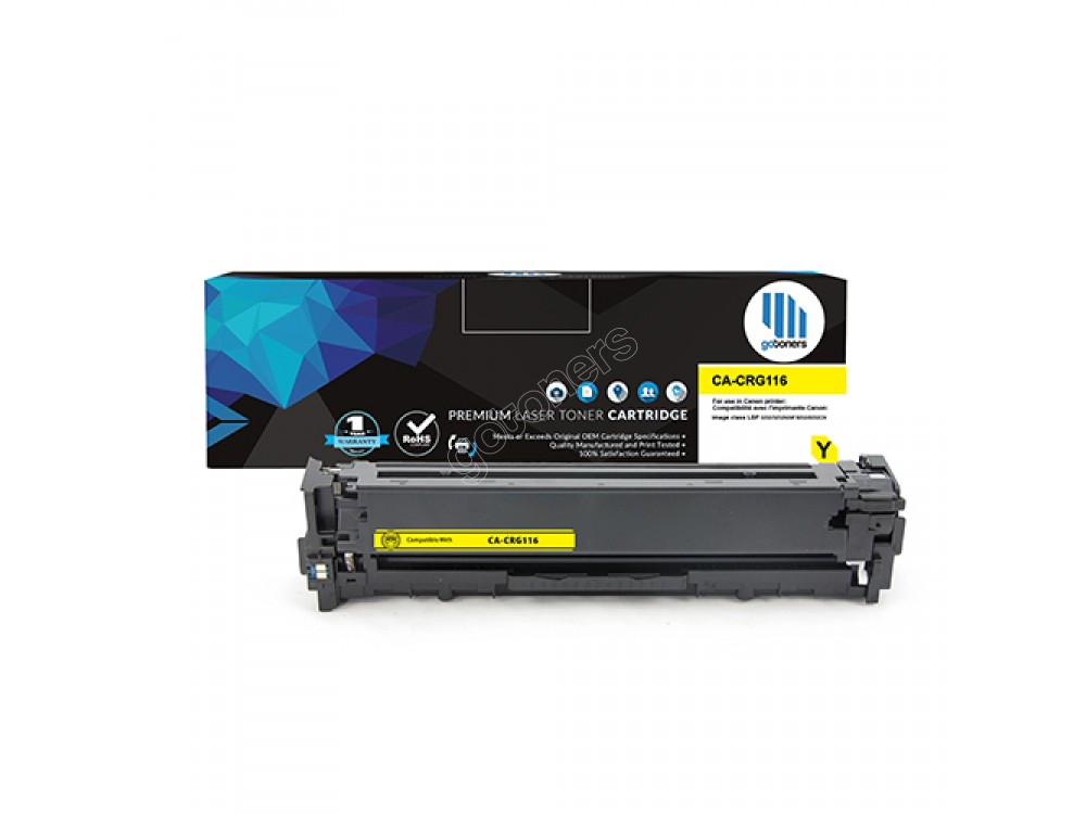 Gotoners™ Canon New Compatible CRG116 (1977B001AA) Yellow Toner, Standard Yield