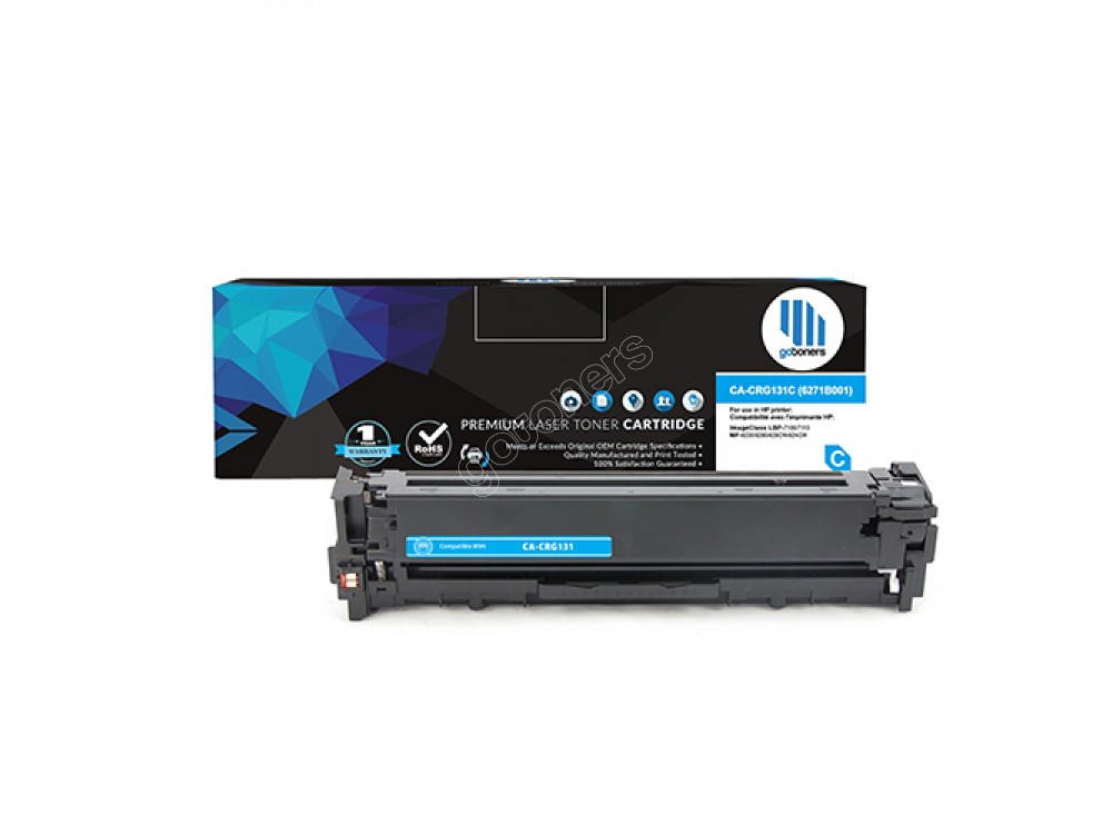 Gotoners™ Canon 131 (6271B001) New Compatible Cyan Toner Cartridge, Standard Yield