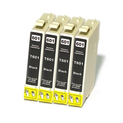 Gotoners™ Epson New Compatible T0601 Black Inkjet Cartridge, Standard Yield, 4 Pack