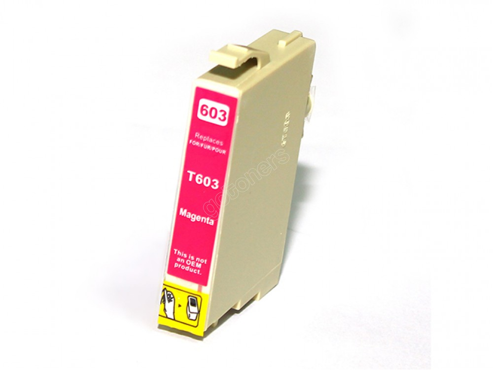 Gotoners™ Epson New Compatible T0603 Magenta Inkjet Cartridge, Standard Yield