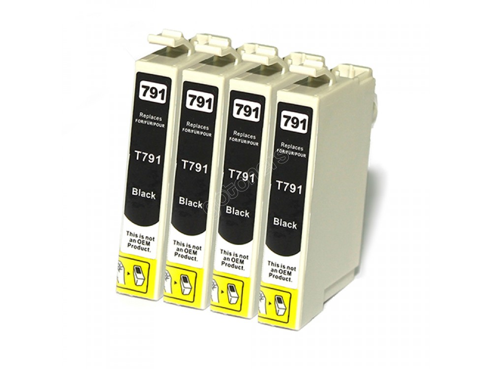 Gotoners™ Epson New Compatible T0791 Black Inkjet Cartridge, Standard Yield, 4 Pack