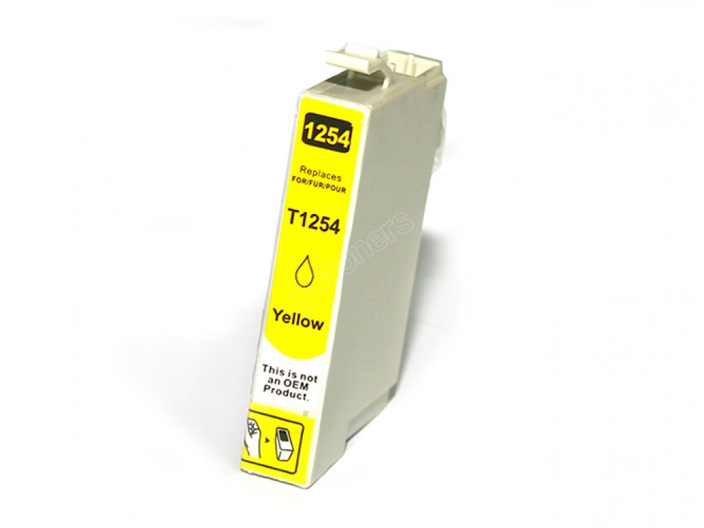 Gotoners™ Epson New Compatible T1254 Yellow Ink Cartridge, Standard Yield