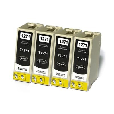 Gotoners™ Epson New Compatible T1271 Black Inkjet Cartridge, Standard Yield, 4 Pack