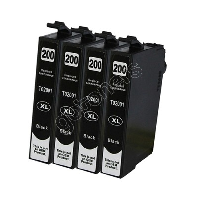 Gotoners™ Epson New Compatible T2001 Black Inkjet Cartridge, Standard Yield, 4 Pack