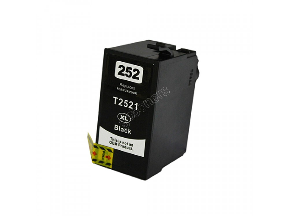 Gotoners™ Epson New Compatible T252BK XL Black Inkjet Cartridge, High Yield