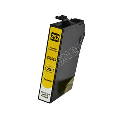 Gotoners™ Epson New Compatible T252Y XL Yellow Inkjet Cartridge, High Yield