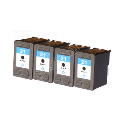Gotoners™ HP Compatible 21 (C9351A) Black Remanufactured Inkjet Cartridge, Standard Yield, 4 Pack