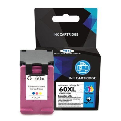 Gotoners™ HP Compatible 60XL C (CC643W) Tri-Color Remanufactured Inkjet Cartridge, High Yield