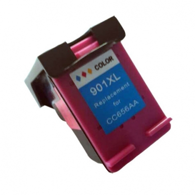 Gotoners™ HP Compatible 901XL C (CC656A) Tri-Color Remanufactured Inkjet Cartridge, High Yield