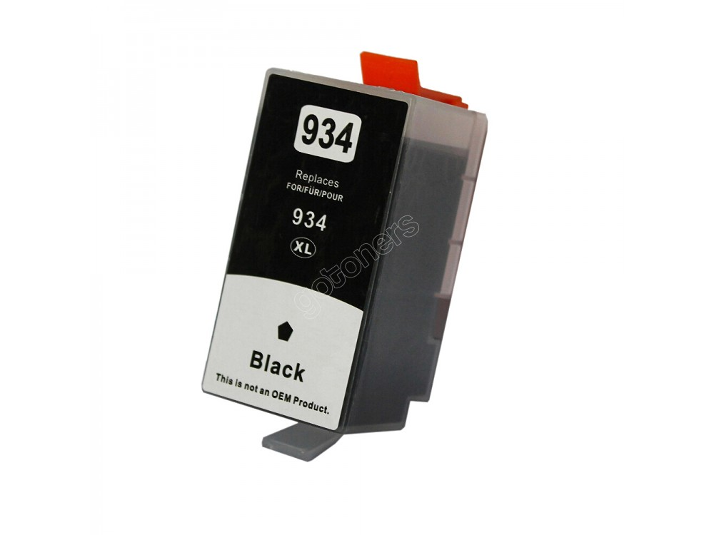 Gotoners™ HP New Compatible 934XL BK (C2P23AN) Black Inkjet Cartridge, High Yield