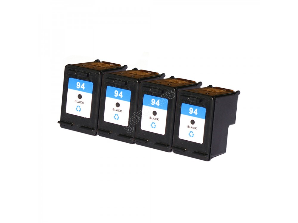 Gotoners™ HP Compatible 94 (C8765W) Black Remanufactured Inkjet Cartridge, Standard Yield, 4 Pack