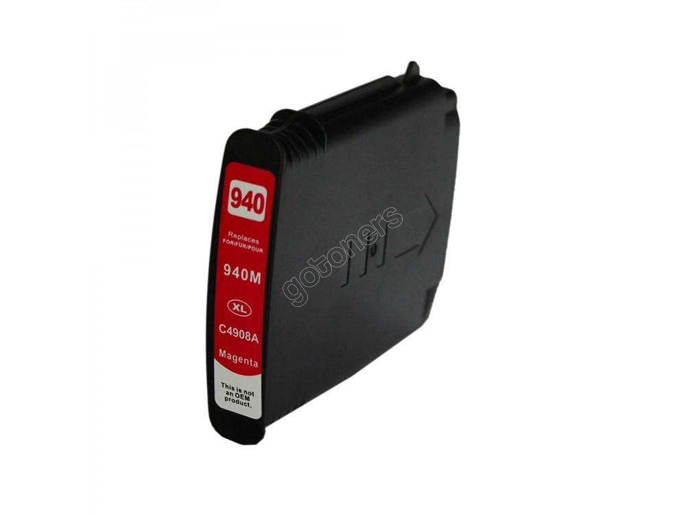 Gotoners™ HP New Compatible 940XL M (C4908AN) Magenta Inkjet Cartridge, High Yield