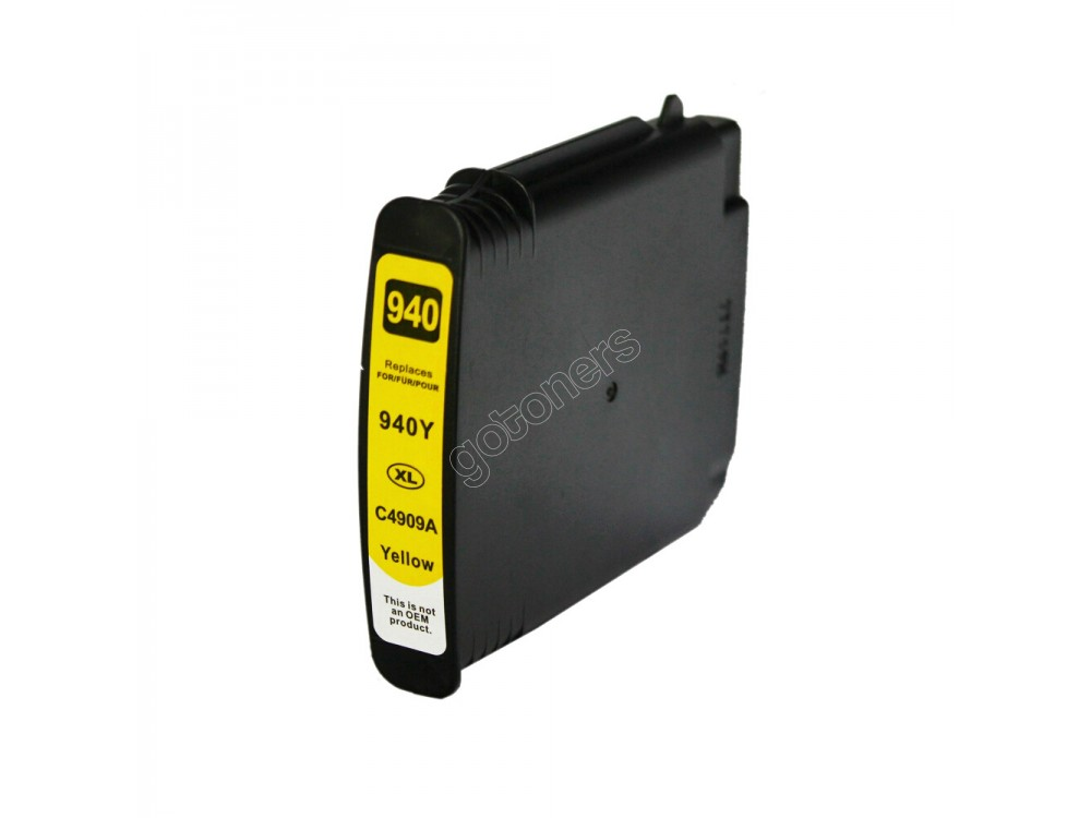 Gotoners™ HP New Compatible 940XL Y (C4909AN) Yellow Inkjet Cartridge, High Yield