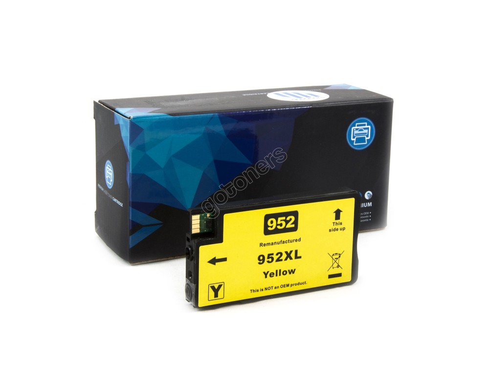 Gotoners™ HP New Compatible 952XL Y (L0S67AN) Yellow Ink Cartridge, High Yield
