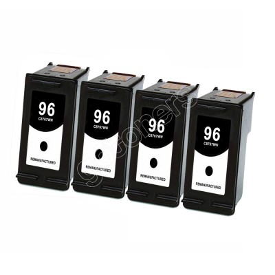 Gotoners™ HP Compatible 96 (C8767W) Black Remanufactured Inkjet Cartridge, Standard Yield, 4 Pack