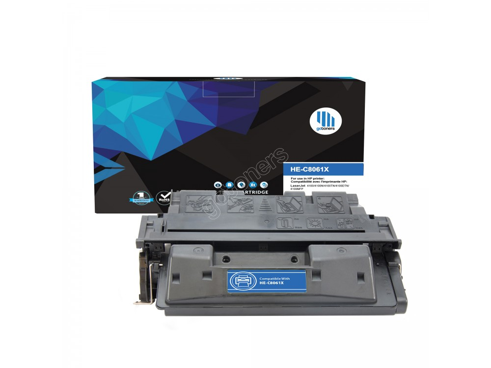 Gotoners™ HP Compatible C8061X (61X) Black Remanufactured Toner , High Yield